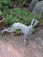 Hare Standing 2 Wire sculpture