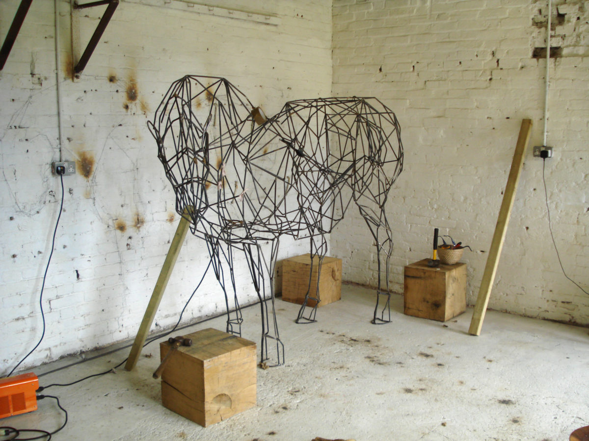 suffolk punch horse, steel horse sculpture, equine sculpture, heavy horse steel sculpture, garden horse sculpture