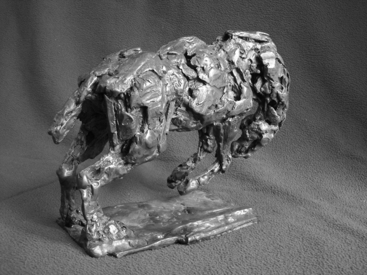 Rodeo Bronco Horse study, bronze rodeo horse sculpture, bronco horse bronze, bronze horse sculpture