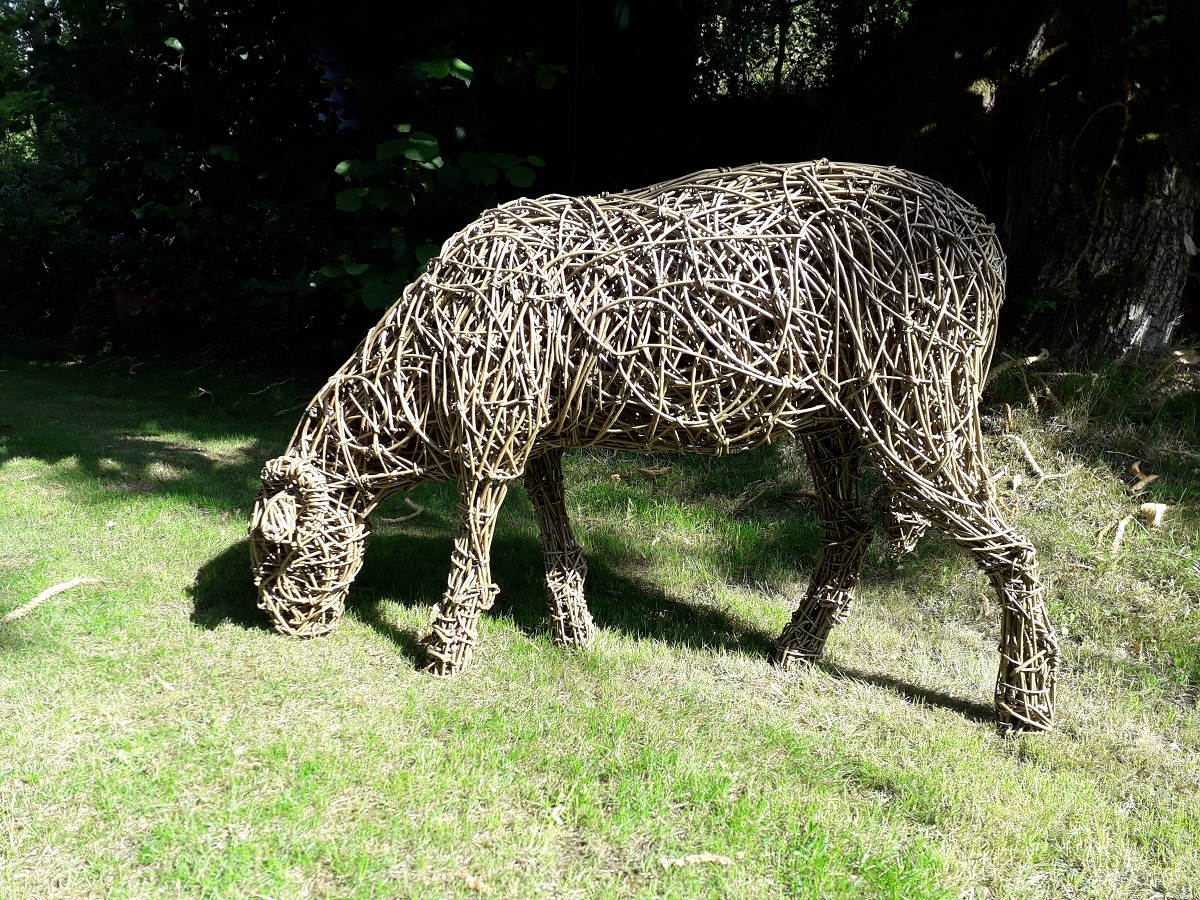 sheep for garden, willow sheep sculpture, garden sculpture