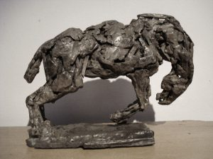 Bronco Horse, bronze, maquette.