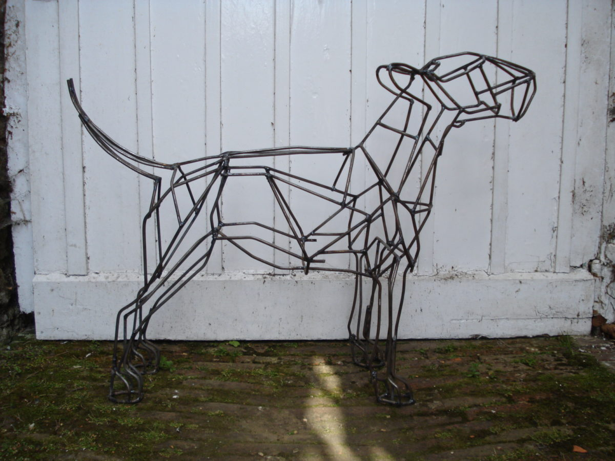 bull terrier dog sculpture, metal dog sculpture, animal sculpture, garden animal sculpture, dog sculpture, metal sculpture,