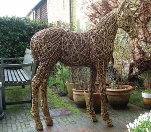 Foal, life size, willow/steel