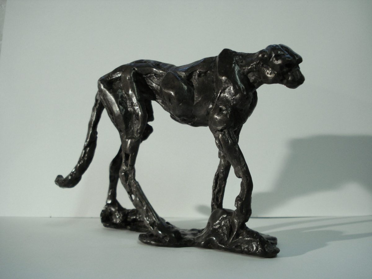 cheetah, wild cat, bronze sculpture, african animal sculpture,