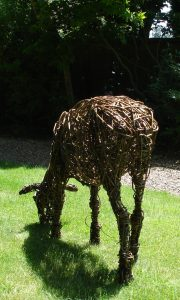 Sheep no.2, life size, willow.